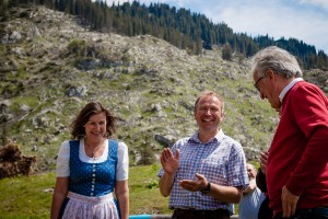Ybbstalerhütte - Inge & Paul Wurzer, Fördervereinsobmann Johann Schragl