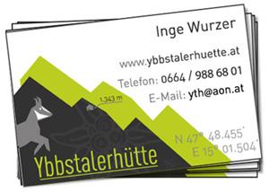 Visitenkarte Ybbstalerhütte