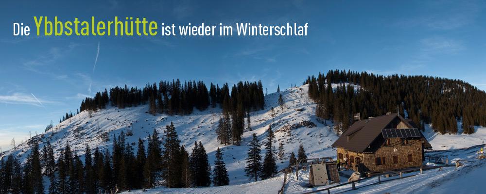 Ybbstalerhütte im Winter -  Die Hütte ist wieder im Winterschlaf