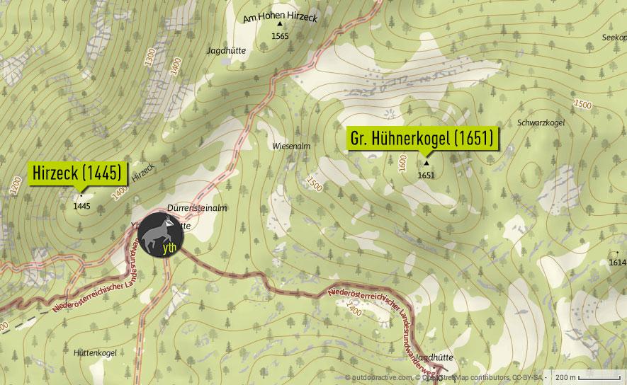 hirzeck-huehnerkogel-karte