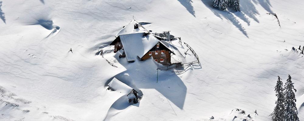 Winterraum auf der Ybbstalerhütte