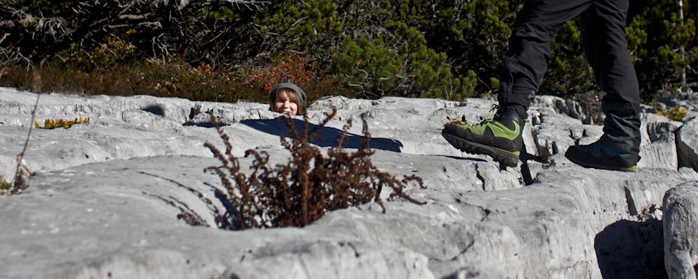 Ybbstalerhütte - Verstecken im Karrenfeld