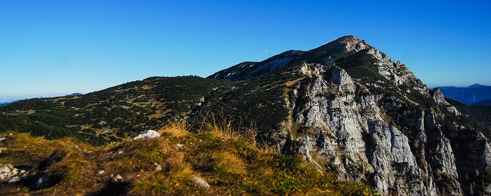 Ybbstalerhütte - Der Dürrenstein Gipfel vom Noten aus gesehen