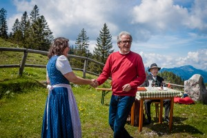 Ybbstalerhütte - Inge Wurzer, Fördervereinsobmann Johann Schragl