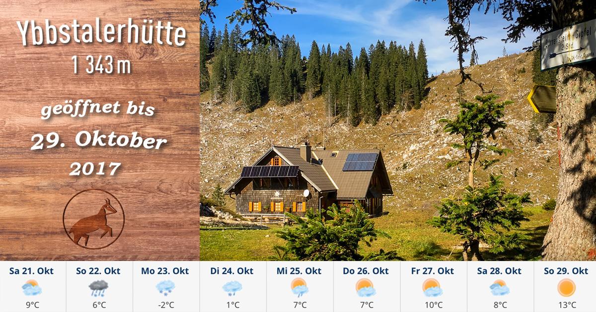Ybbstalerhütte noch bis 29. Oktober durchgehend geöffnet