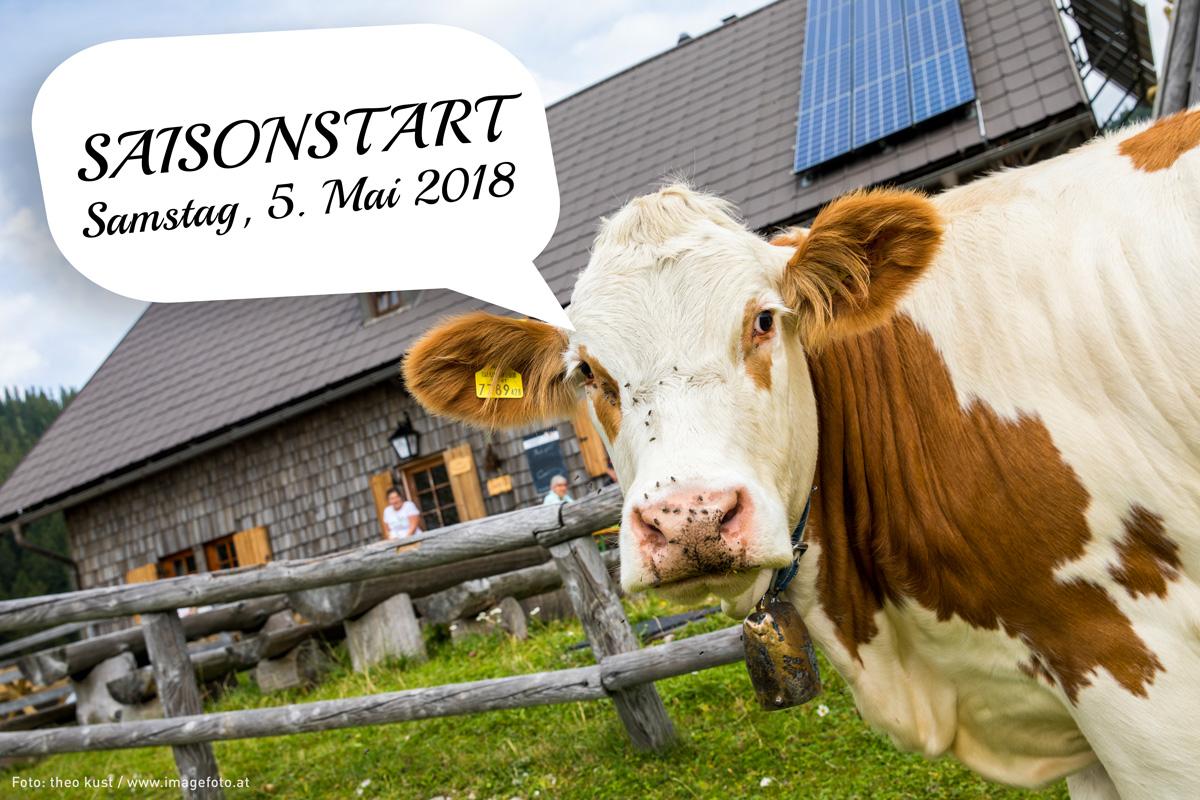 Ybbstalerhütte: Saisonstart Samstag, 5. Mai 2018