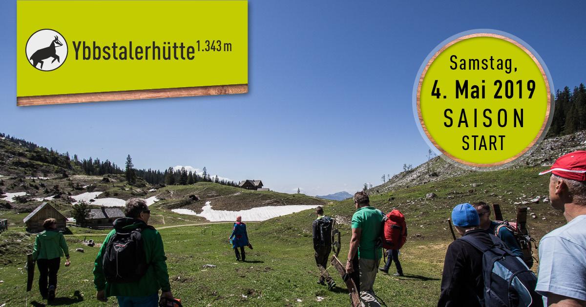 Ybbstalerhütte: Saisonstart Samstag, 4. Mai 2019