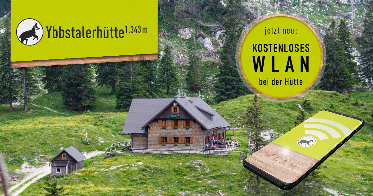 Jetzt neu: Kostenloses WLAN bei der Ybbstalerhütte