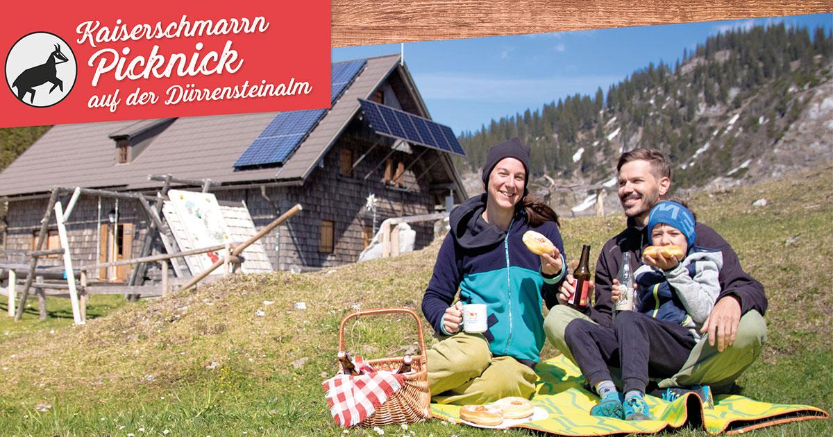 Kaiserschmarrn Picknick auf der Dürrensteinalm